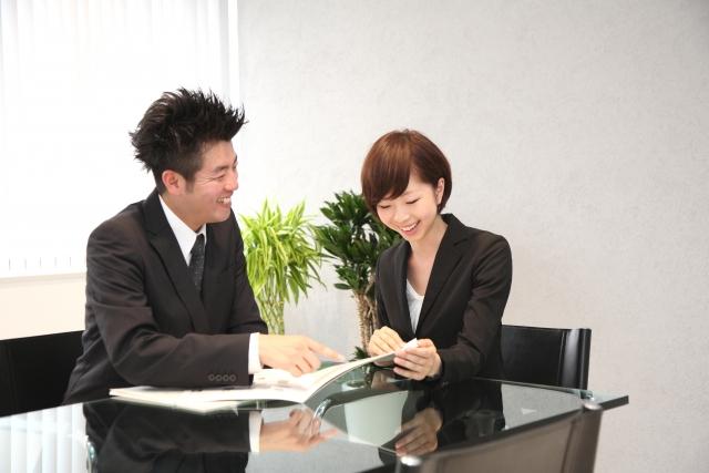 雇用保険について説明している写真です